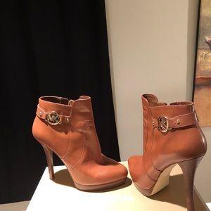 Michael Kors Women's Platform Leather Bootie